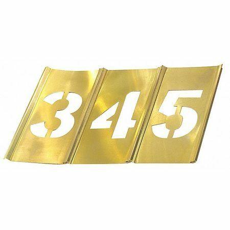 C.H. Hanson 10011 Stencil Set,Numbers,Brass
