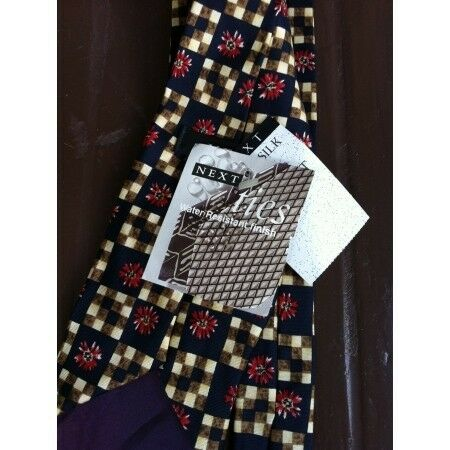 Next Twill Silk Tie Water resistant finish Never been used before