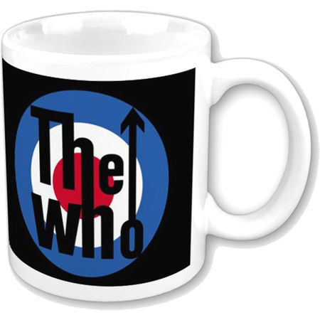 NEW THE WHO TARGET LOGO MUG RETRO ROUNDEL COFFEE CUP GIFT DALTREY MOD MUSIC