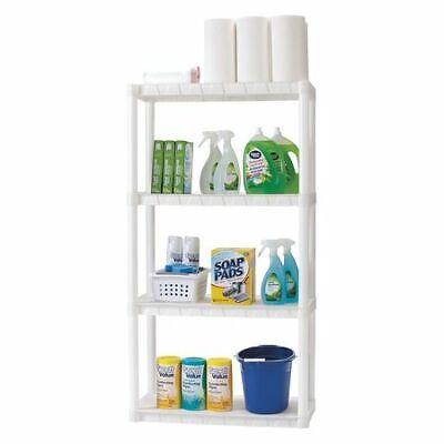 Plano Molding 924403 Plastic Shelving Unit 14d X 30w X 55-12h 4 Shelves