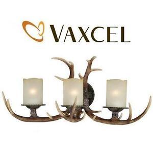 NEW VAXCEL 3-LIGHT YOHO WALL LIGHT WALL LIGHT FIXTURE BLACK WALNUT FINISH 109507727