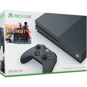 XBOX ONE S (Storm Grey) + games
