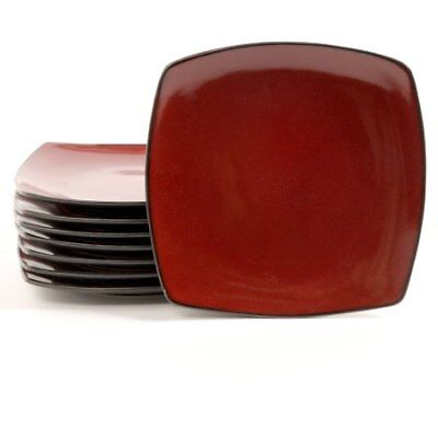 Red Square Plates (Gibson Home Soho Lounge 10.5