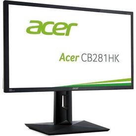 "Acer 28"" CB281HK 4k Ultra HD 1ms Monitor"