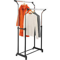Honey-Can-Do Flared Double Garment Rack for sale