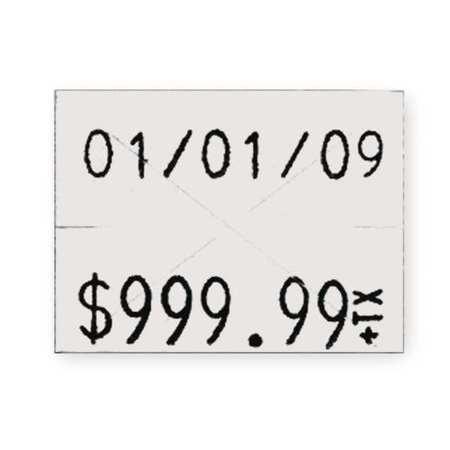 GARVEY 90949 Pricing Label Kit,2-Line,White,PK3