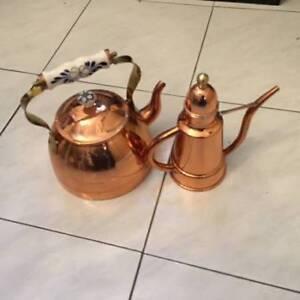 NEW Copper Kettle and Oil Dispenser