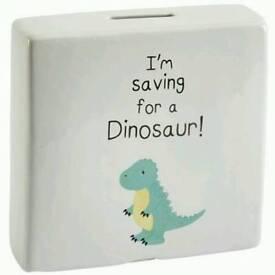I'm Saving For A Dinosaur Money Box