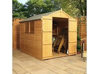 NEW 8x6 tongue and groove shed plus extras