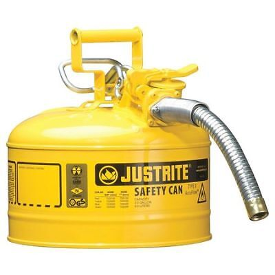 Justrite 7225230 2-12 Gal. Yellow Steel Type Ii Safety Can For Diesel