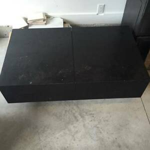 High Quality Beautiful Black Coffee Table with Storage North Shore Greater Vancouver Area image 2