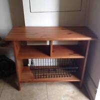 Wooden Entryway Bench/Shoe Storage - $45