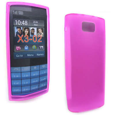 Pink Jelly Case Cover Gel Skin for Nokia X3-02 X3 + SP ()