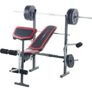 WEIGHT BENCH WEIDER PRO 256 (INCLUDING EXTRAS)