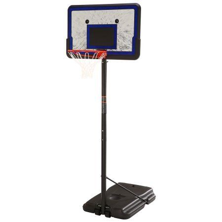 Lifetime 1221 Pro Court Height Adjustable Portable Basketball System, 44 Inch Backboard 1221