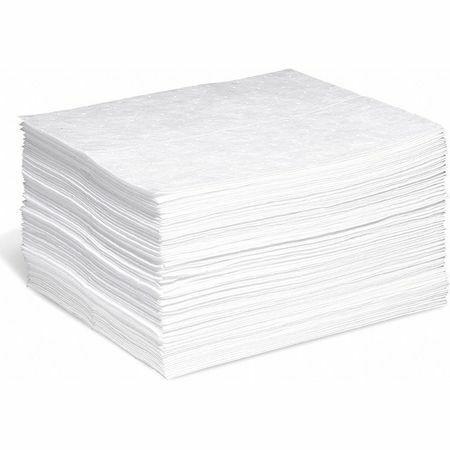 Spilltech Wp-M Absorbent Pad, Absorbs 20 Gal. Oil-Based Liquids, Pk 100 ,White