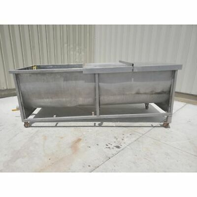 Used 1800 Gallon Stainless Steel Tub Trough Tank
