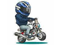 Monkeybike breaking. Honda,Graft, kitaco,takegawa parts available