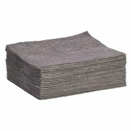 Spilltech Gpb50h Absorbent Pad, Absorbs 14.55 Gal. Universal, Pk 50 ,Gray