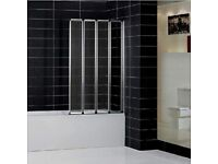 Bi-folding shower screen