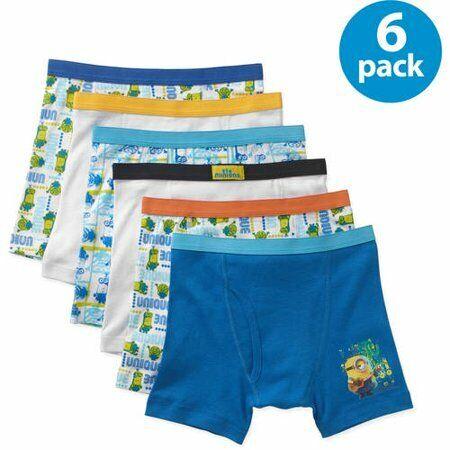 Minions Boys Boxer Briefs, 5+1 Bonus Pack,