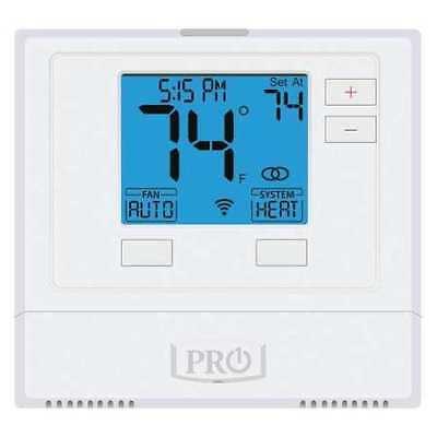 PRO1 IAQ T701i WiFi Thermostat, 1 Stages, 24V AC, Heat-Cool-