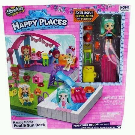 Shopkins Happy places pool Set