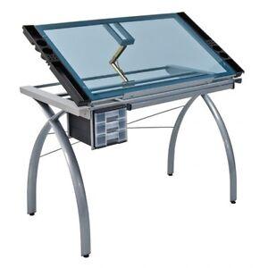 Like new! Studio design silver futura drawing table
