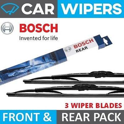 Peugeot 206 SW 2002 - 2006 BOSCH Front & Rear Windscreen Wiper Blades
