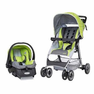Pousette evenflo voyage + coquille / Stroller + Car seat