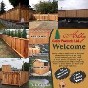Fence installs and sale of cedar fence panels.  $60
