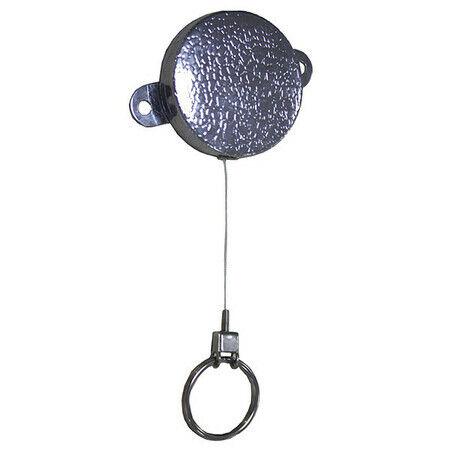 Zoro Select 25Du47 Key Reel, Large Yoke Ring Type, 1 3/16 In Ring Size, Chrome