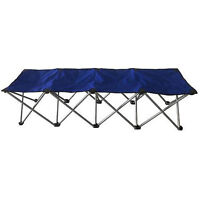 Four person folding bench - NEW, blue