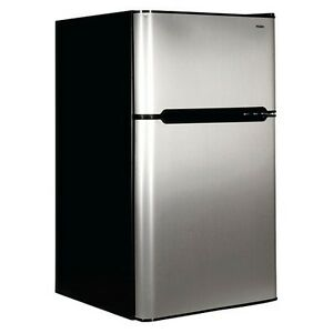 Haier Stainless 2-door 3.2 cu.ft. Bar Fridge