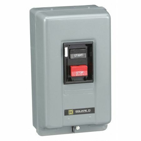 Square D By Schneider Electric 2510MBG2 Manual Motor Starter,NEMA,18A,600VAC,3P