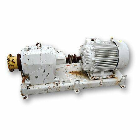 Used 75HP David Brown Radicon Gear Motor Speed Reducer Drive (18:1 ratio)