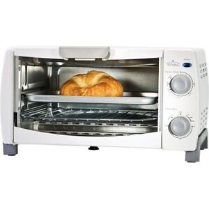 White Rival 4-Slice Toaster Oven - Four grille-pain Rival Blanc