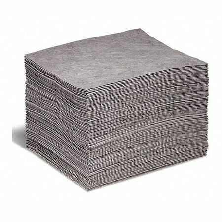 Spilltech Gp-M Absorbent Pad, Absorbs 20 Gal. Universal, Pk 100 ,Gray