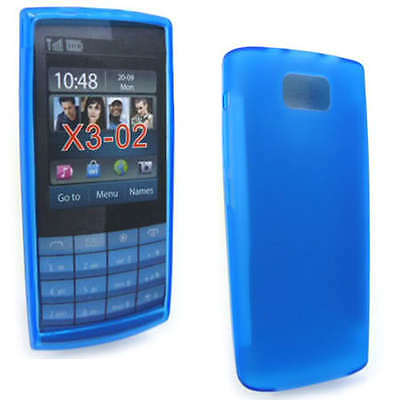 Blue Jelly Case Cover Gel Skin for Nokia X3-02 X3 + SP ()
