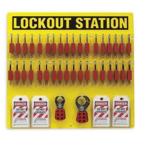 BRADY 51195 Lockout Station,Filled,78 Components