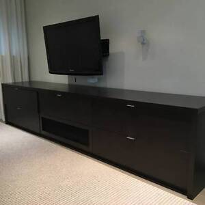 Sectional Couch, Console and Rug - almost new $1000 OBO