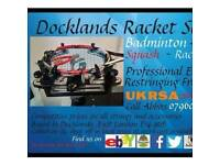 Docklands racket strings. Ukrsa certified. Electronic tensioning