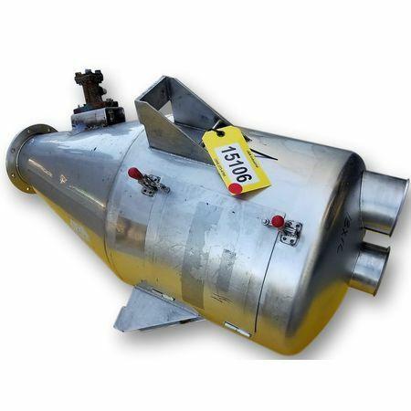 Used Stainless Steel Dry Bulk Hopper - 4 cu/ft