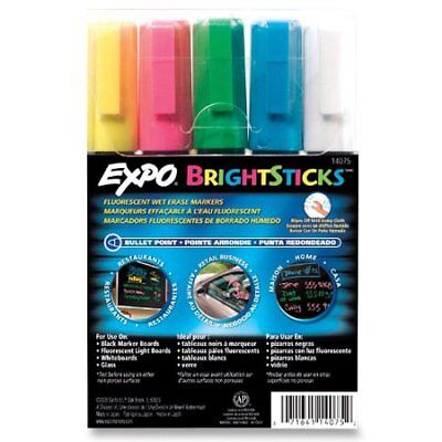 New Sanford Expo Brightsticks Fluorescent Markers 5 Colors 14075 Msrp 24.95
