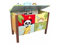 Painted Wooden Themed Toy Boxes fast free delivery - Children's Furniture Store