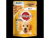 Pedigree puppy pouches x 48