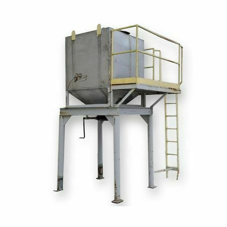 Used 60 cu/ft Stainless Steel Bin Hopper w/ Platform