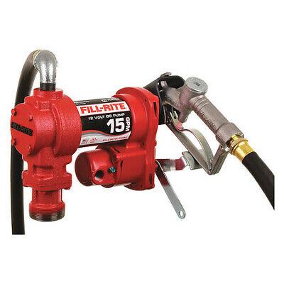 Fill-rite Fr1210h Fuel Transfer Pump 12vdc 15 Gpm 14 Hp Cast Iron 1 Npt
