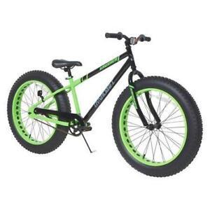 "New Krusher Men's Dynacraft Fat Tire Bike, Black/Green, 24"" (Pick-up Only) - DI14"