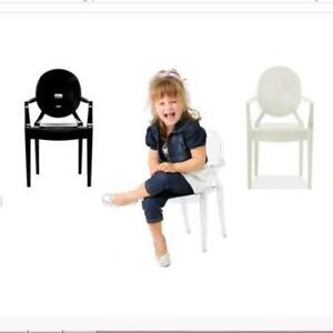 Ghost Chairs for kids! Clear, white and black colours available.